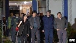 Evo Morales poco antes de abandonar Bolivia rumbo a Cuba.