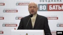El presidente de Ucrania, Oleksandr Turchynov