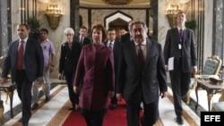 La jefa de la diplomacia europa en Bagdad
