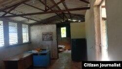 Reporta Cuba, lugar donde vivía mujer desalojada. Foto: Evelín Pineda.