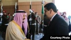 Maduro en Arabia Saudí.
