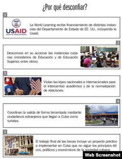 El diario Juventud Rebelde publica una gráfica que invita a desconfiar del programa de becas.
