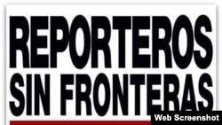 Logo de la organización Reporteros Sin Fronteras