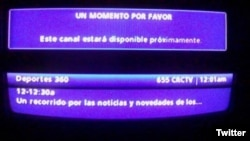 La imagen de Caracol Televisión bloqueada en Venezuela.