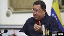 El presidente de Venezuela, Hugo Chávez. EFE/PRENSA MIRAFLORES
