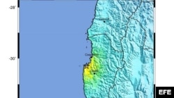 Foto de archivo de un sismo en Chile el jueves 31 de octubre de 2013.