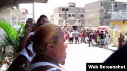 Acto de repudio en Ciego de Avila a activistas de derechos humanos