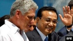 Primer ministro de China, Li Keqian, llega a La Habana