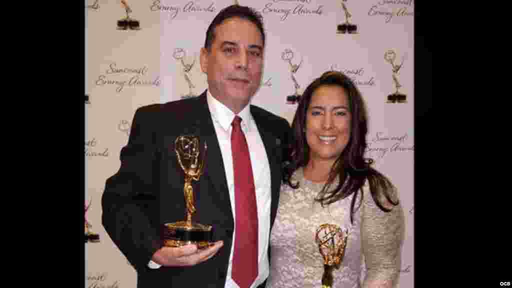 Emmy 2015 - Los productores José Valois e Isabel Cuervo