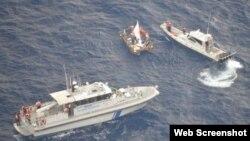 Rescatan a cubanos varados cerca de Caimán Chico.