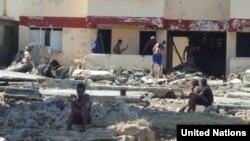 Damnificados por el huracán Matthew en Cuba. Foto Naciones Unidas