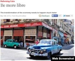 """""""The Economist"""": Se necesita una transformación más rápida de la economía."""