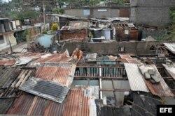 Destrozos causados por el ciclón Sandy en Santiago de Cuba, en 2012.