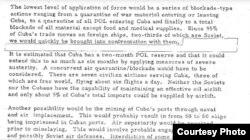 Escalada: Kissinger recomendó medidas militares graduales contra Castro, incluyendo un bloqueo naval y minado de puertos.