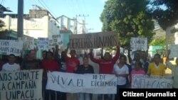 Activistas de Derechos Humanos en Palma Soriano, publicadas en la sección Reporta Cuba. Archivo.