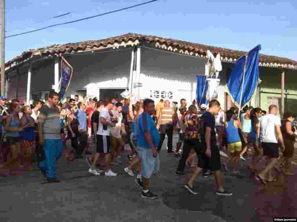Reporta Cuba Simulacro de Parrandas en Vueltas el 27 de septiembre. Foto Niurcys Acosta.