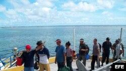 Cubanos balseros detenidos en México