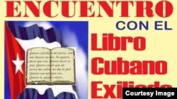 Afiche encuentro escritores cubanos exiliados