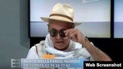 Juan Carlos Cremata, en el programa El Espejo de AméricaTeve, en Miami.