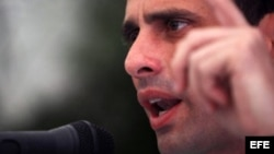 El candidato presidencial opositor de la oposición venezolana, Henrique Capriles Radonsky