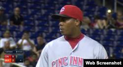 El lanzador zurdo cubano Aroldis Chapman.