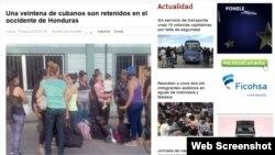 Cubanos que arribaron a Honduras en mayo de 2015.