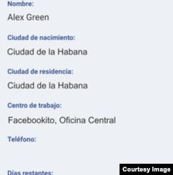 Pantalla de Facebookito. Foto: Eliseo Matos para Cubanet.