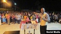 Pastor Alain Toledano en El Salao, Santiago de Cuba.