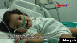 Maya Fabelo Ledesma, de 6 meses de vida, padece de Atrofia Muscular Espinal (AME) tipo 1.