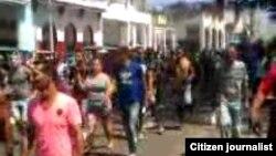 Reporta Cuba Protesta en Galiano Foto/Arcelio Molina