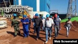Miguel Díaz-Canel visita la termoeléctrica Antonio Guiteras, en Matanzas. (Archivo)