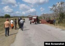 Entre los doce lesionados en accidente de Placetas hay un niño.