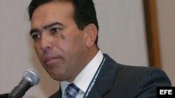 Archivo/Antonio Rivero, durante su intervención en la V Conferencia Internacional de Protección Civil y Administración de Desastres.