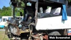 Accidente de tránsito en Bayamo, Cuba.