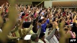 Votación de delegados al VI Congreso del Partido Comunista de Cuba (PCC).