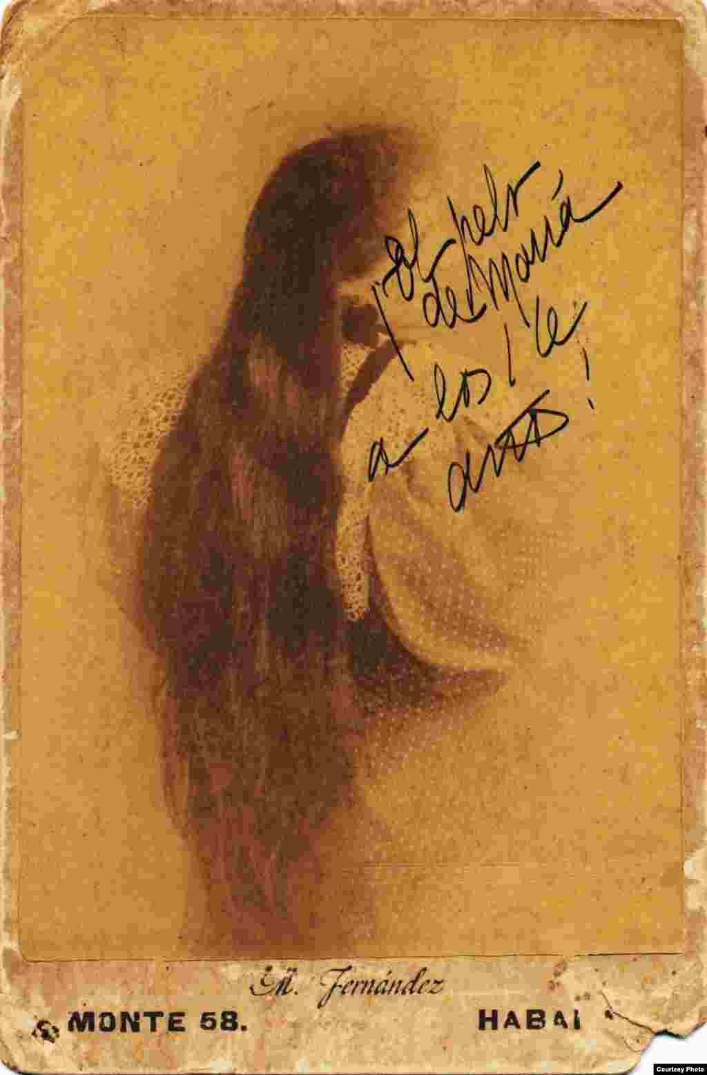 María Sánchez de Fuentes a los 16 años. Cortesía de Orlando González Esteva