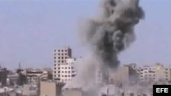 Bombardeo en Siria. Archivo