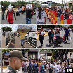 Cruce de frontera desde Venezuela hasta Colombia en primer día de apertura el 13 de agosto
