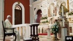El Papa Francisco en el Santuario de la Virgen de la Caridad en el Cobre