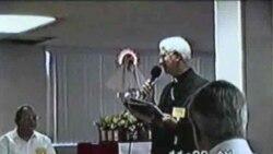 Monseñor Román y el Cardenal Ortega en San Agustín, 1997.