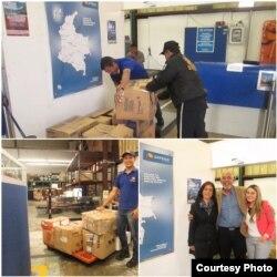 Envío del primer cargamento de ayuda para cubanos en Turbo Foto Cortesía de Trobajo Hernández