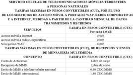 Detalle de tarifa para internet en móviles de los cubanos en la isla