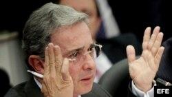 Fotografía de archivo del expresidente de Colombia, Álvaro Uribe.