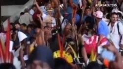 Los indígenas se suman a las protestas contra el Mundial de Brasil