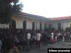 Inicio curso escolar Stgo Cuba / foto Ridel Brea