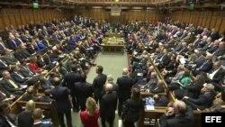 Vista general de la Cámara de los Comunes durante un debate en el Parlamento hoy, viernes 26 de septiembre de 2014.