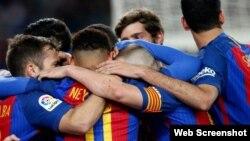 Jugadores del equipo Barcelona.