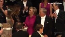 Trump llama corrupta Clinton durante una cena benéfica
