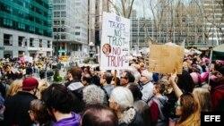 Manifestantes en Manhattan.