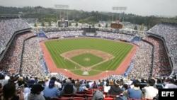 Fotografía de archivo del Dodger Stadium. EFE/ARMANDO ARORIZO
